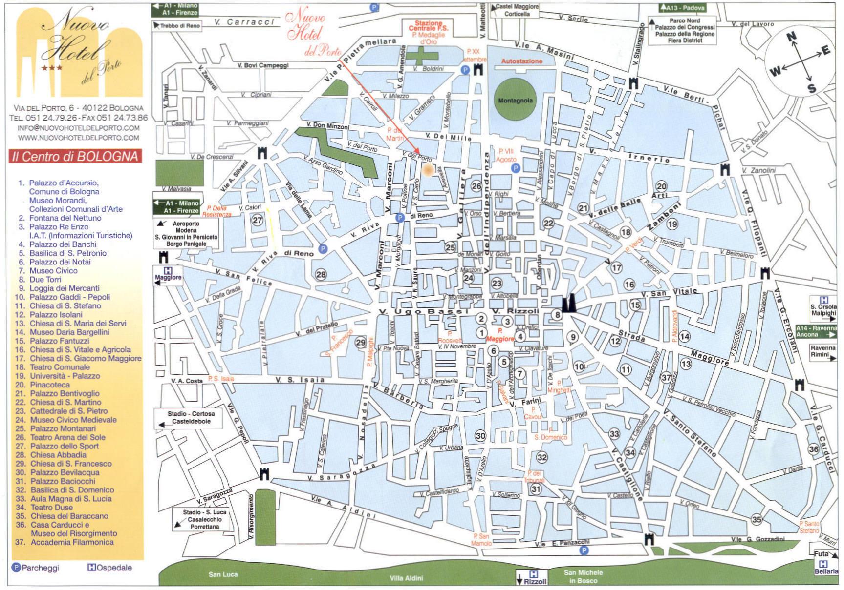 Cartina Citta Firenze.Cartina Di Bologna