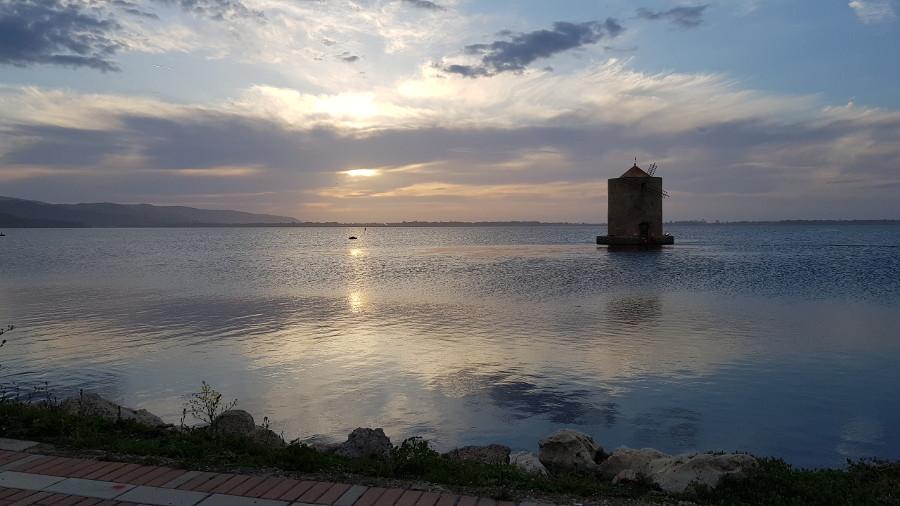 Orbetello Mulino spagnolo al tramonto
