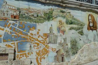 Murales Petrelcina con luoghi da visitare