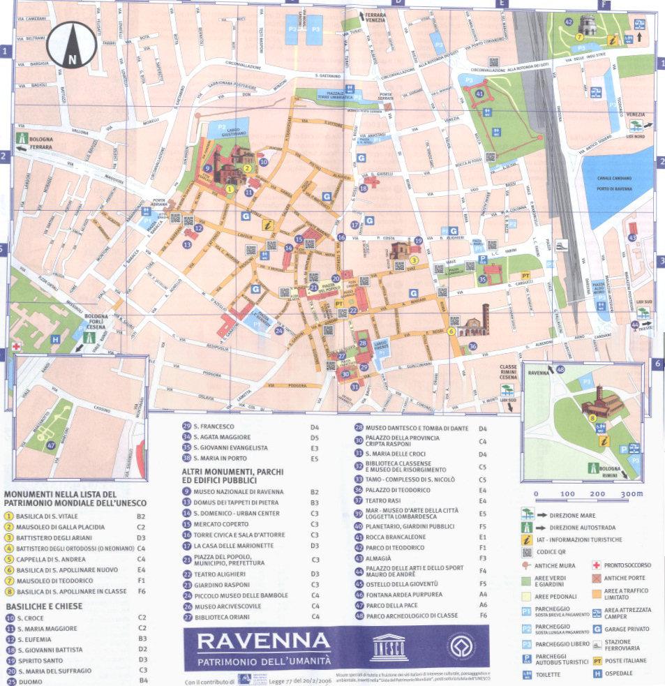 Cartina Roma Turistica.Cartina Di Ravenna