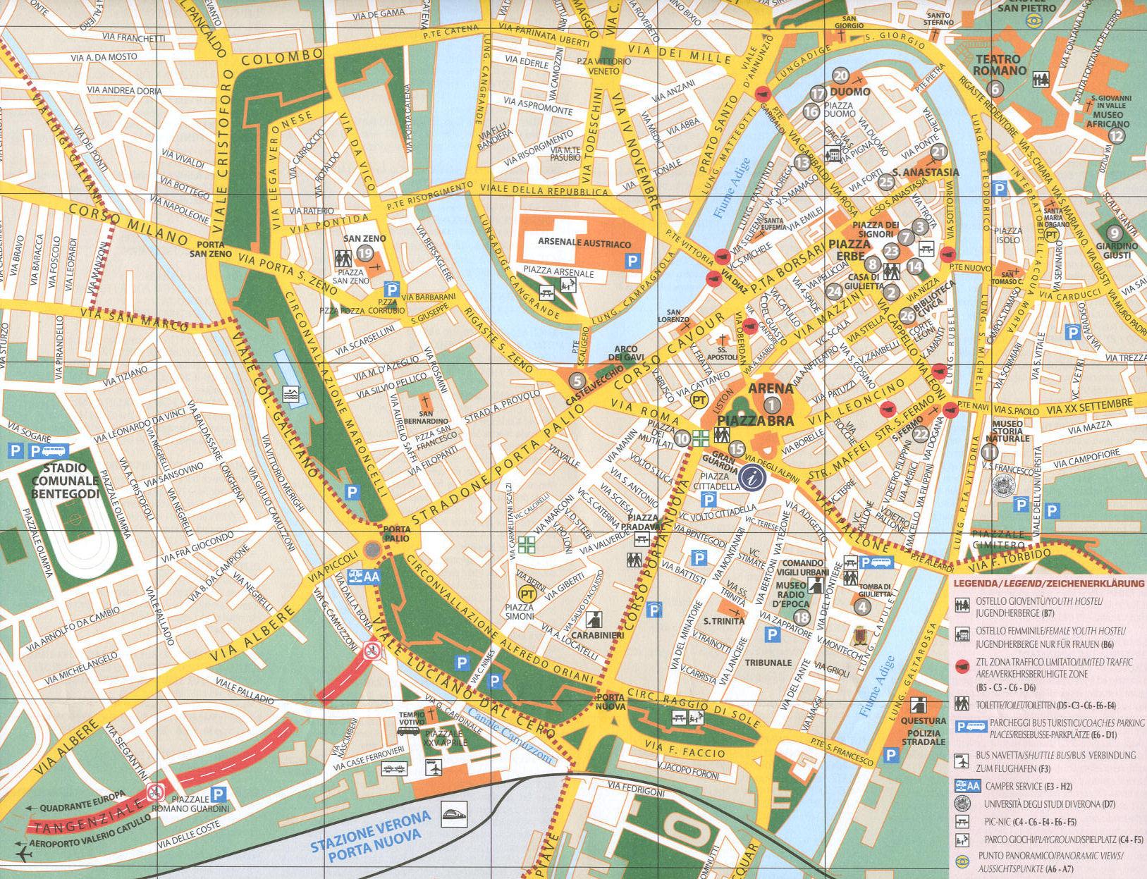 Cartina Verona.Cartina Di Verona