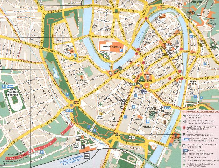 Roma Cartina Turistica Da Stampare.Verona Foto Di Verona