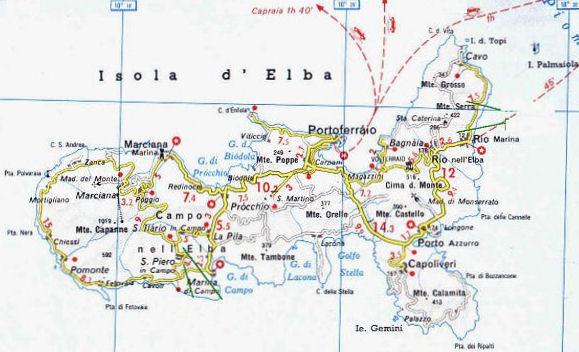 Cartina Elba Isola.Cartina Dell Isola D Elba