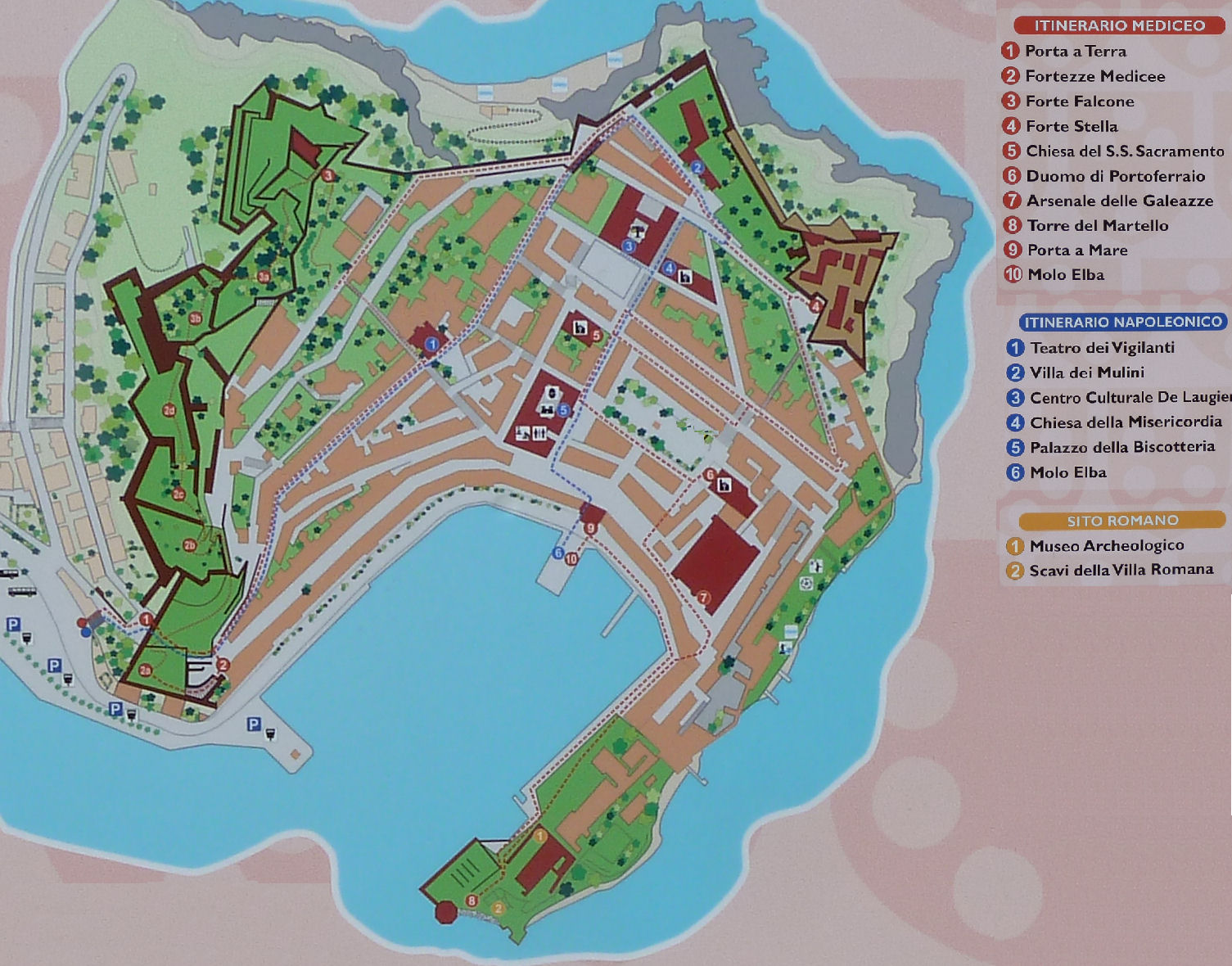 Cartina Turistica Di Venezia.Cartina Di Portoferraio