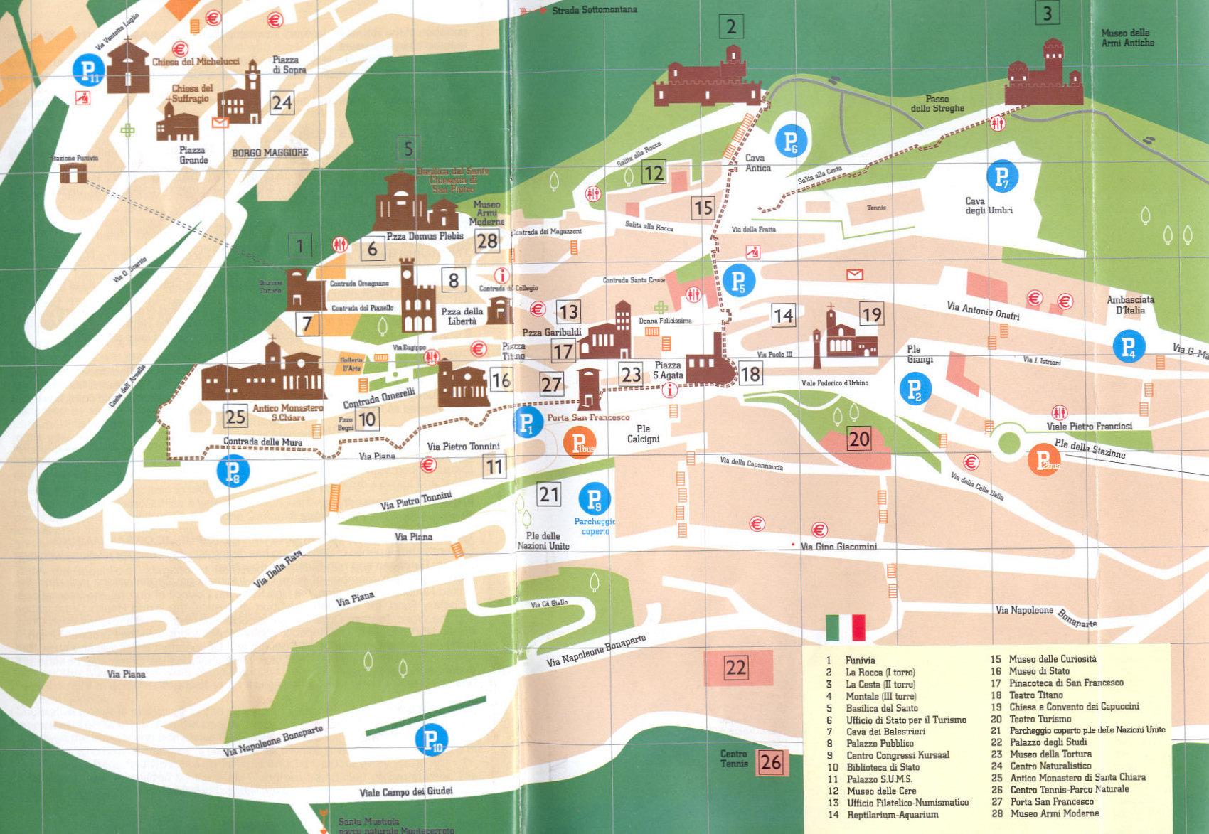 Circuito De Monza : San marino cartina della repubblica di