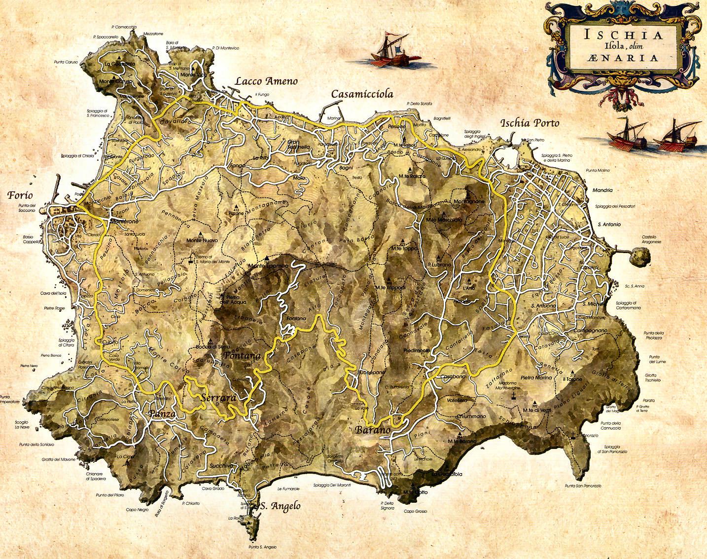 Cartina Umbria Cascia