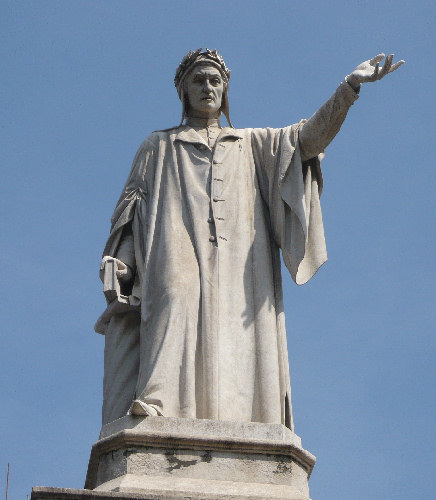 Statua di Dante in Piazza Dante